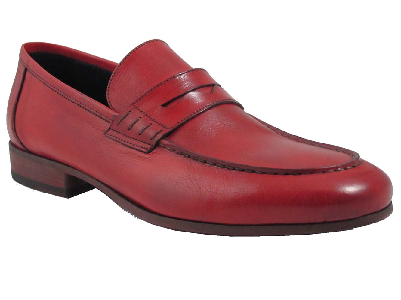 Rossi Menu0026#39;s Italian Leather 1876 Penny Loafers Shoes | EBay